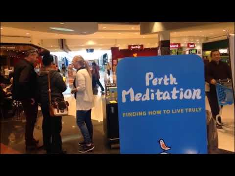 Spreading Happiness, Perth Meditation Information Booth