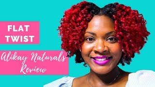 How to Flat Twist on Natural Hair| Alikay Naturals | Curly Corner