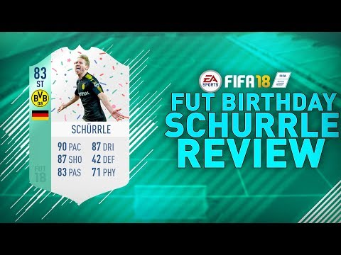 FUT BIRTHDAY SCHURRLE (83) REVIEW!!! | FIFA 18 FUT BIRTHDAY SCHURRLE PLAYER REVIEW