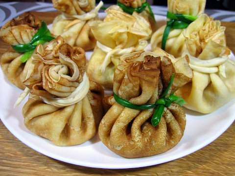 блинные мешочки с грибами рецепт с фото