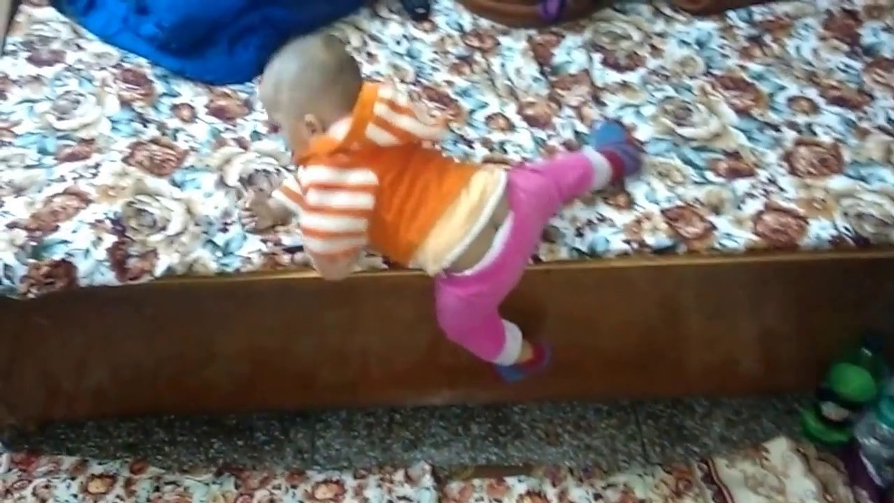 Funny Baby Videos - See How 11 Month Old Baby Let Down From Bed