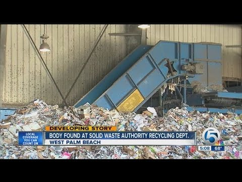 Body found at Solid Waste Authority Recycling Dept.
