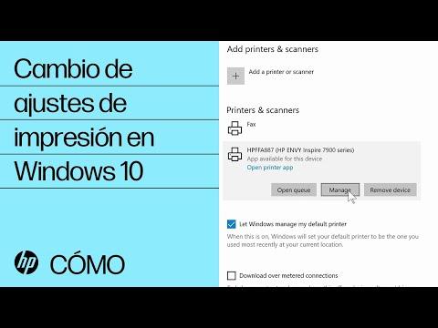 Cambio de ajustes de impresión en Windows 10 | HP Computers | HP
