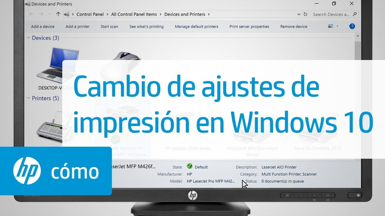 Cambio de ajustes de impresión en Windows 10 …