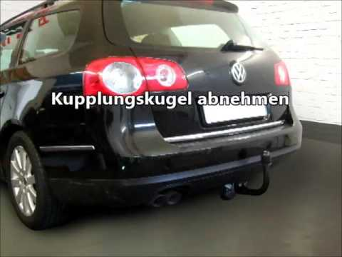 ahk vw passat 3c abnehmbar 2901945 youtube. Black Bedroom Furniture Sets. Home Design Ideas