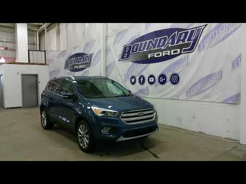 2018 Ford Escape Titanium W/ Blue Metallic Exterior, 2.0L Ecoboost Overview | Boundary Ford