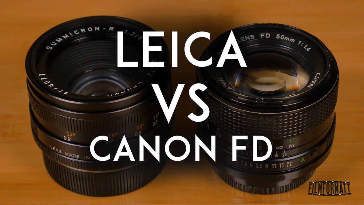 Leica Summicron 50mm F2 vs Canon FD 50mm F1 4
