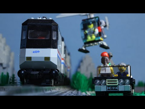 Thumbnail: Lego Train Chase (Stop Motion)
