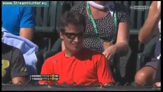 Jo-Wilfried Tsonga vs Milos Raonic - 4R - ATP Indian Wells 2013