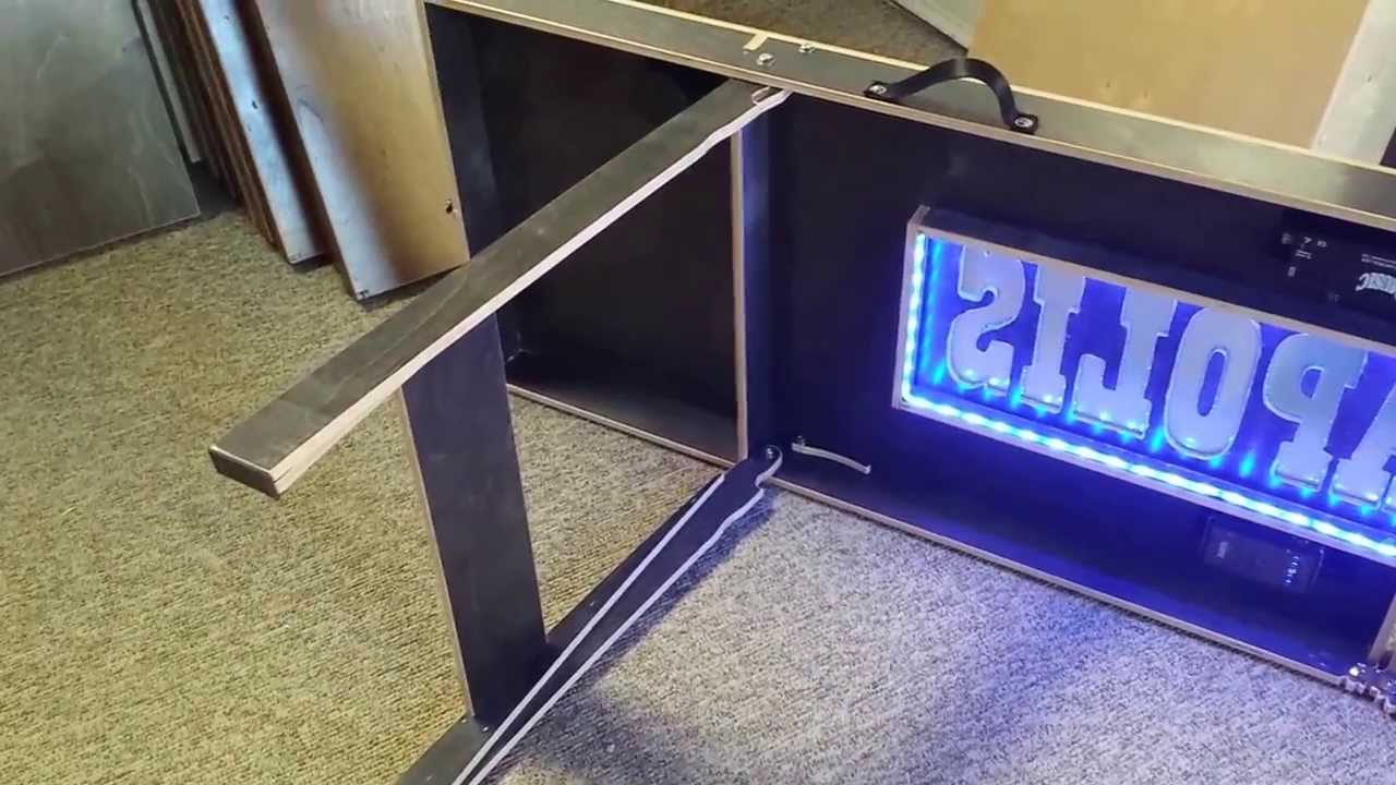 Homemade beer pong table - Cool Custom Beer Pong Table With Led Lights