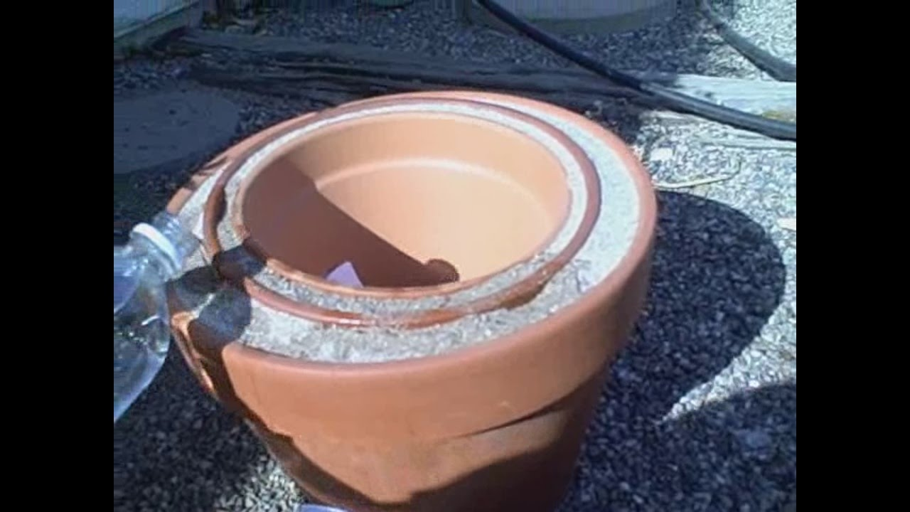 Homemade Pot In Pot Refrigerator Off Grid Fridge Cools Air Up To