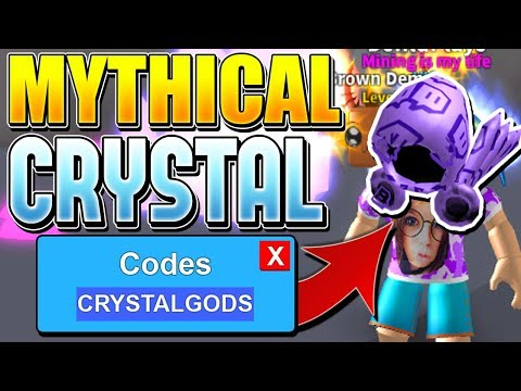 MYTHICAL CRYSTAL UPDATE CODES IN ROBLOX MINING SIMULATOR!