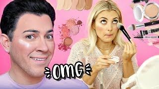 I TRIED FOLLOWING A MANNY MUA MAKEUP TUTORIAL! | Aspyn Ovard