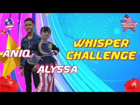 Lawak bila Alyssa & Aniq dalam Whisper Challenge! | Ceria Megastar Merdeka