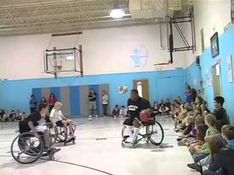 Wheelchair basketball team visits Kemptown Elementary School