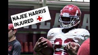 Alabama Running Back Najee Harris out for two weeks for injury