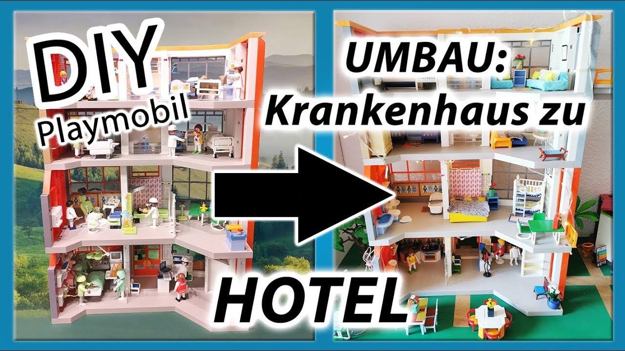 diy playmobil  umbau krankenhaus zu hotel  einrichtung