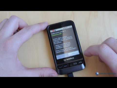 Vodafone 845 com Android 2.1: desembalagem (unboxing)