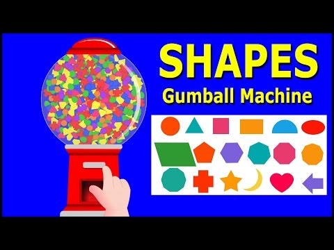 Learn Shapes with Gumball Machine - Crazy Baby Rhymes - Nursery Rhymes & Baby Songs
