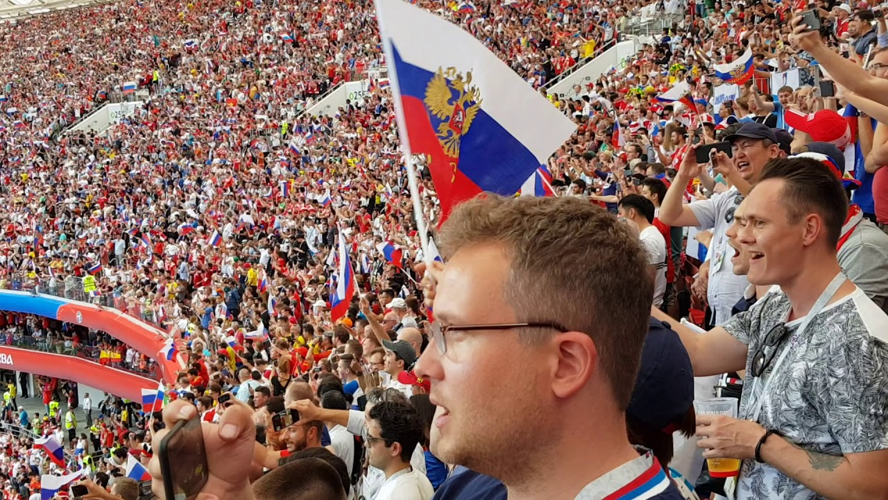 National Anthem Russia. Russia Vs Spain r16 Moscow. 1st July 2018 FIFA World Cup.