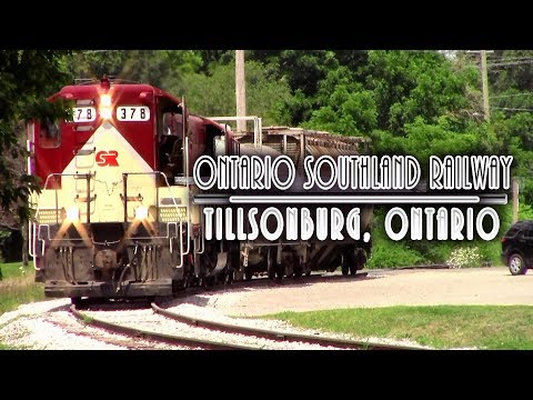 Railfanning Ontario Southland Railway in Tillsonburg, Ontario