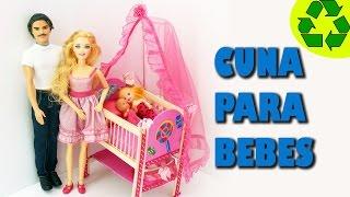 👶 DIY | Miniatura cuna para los bebes de tus muñecas - Manualidades para muñecas