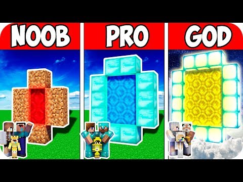 minecraft-noob-vs-pro-vs-god-:-family-smart-portal-evolution-|-animation