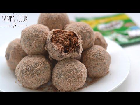 Donat Coklat Milo Tanpa Telur Tanpa Ragi, Takaran Sendok, Donat Termudah