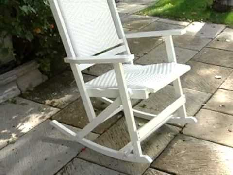 willow bay folding resin wicker rocking chair white product review