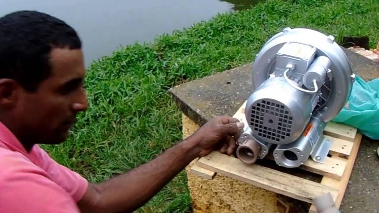 Como instalar compressor de ar ou soprador de ar para for Construccion de estanques para piscicultura