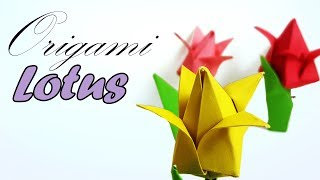 Origami Lotus Flower ♥︎ How to Make Paper lotus flower tutorial for kids - Paper Work - Lotus Flower