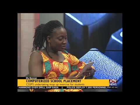 Computerized School Placement - My Banner on Joy News (19-11-15)