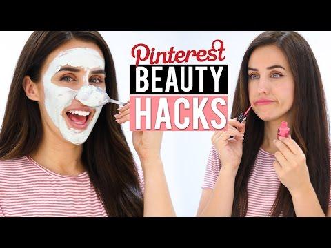 PROBANDO tips raros de belleza de Pinterest