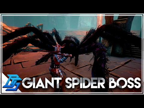 Conan Exiles - Part 14 - Giant Spider Boss Fight , Cave of Spiders (PvP)