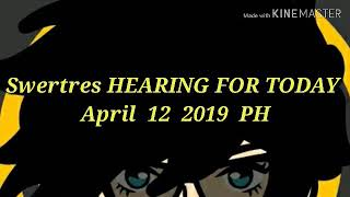 SWERTRES HEARING AND STL TIP APRIL 12 2019 - Leidy Kent - THFilm pro