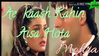 Gambar cover As kaash kahin aisa  hota/full video(song)/film-mohra/Akshay Kumar & Raveena Tandon/romantic sad son