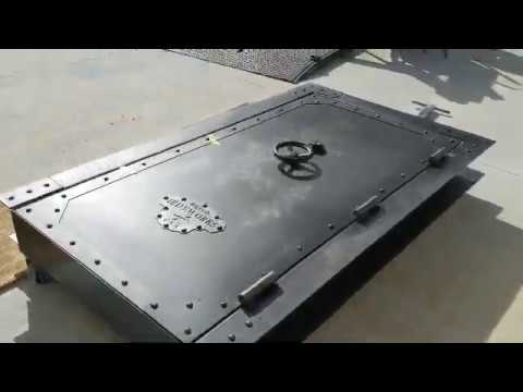 PANIC ROOM OPTION Vault Door Install-Rhino Ironworks