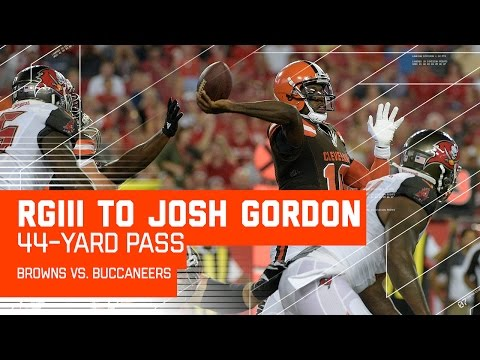 RGIII & Josh Gordon Connect for 44 Yards! | Buccaneers vs. Browns (Preseason) | NFL