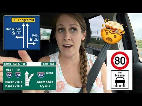 German Autobahn vs US Highway