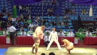 Сумо.Чемпионат мира по Сумо 2014 (Караев vs. JPN)