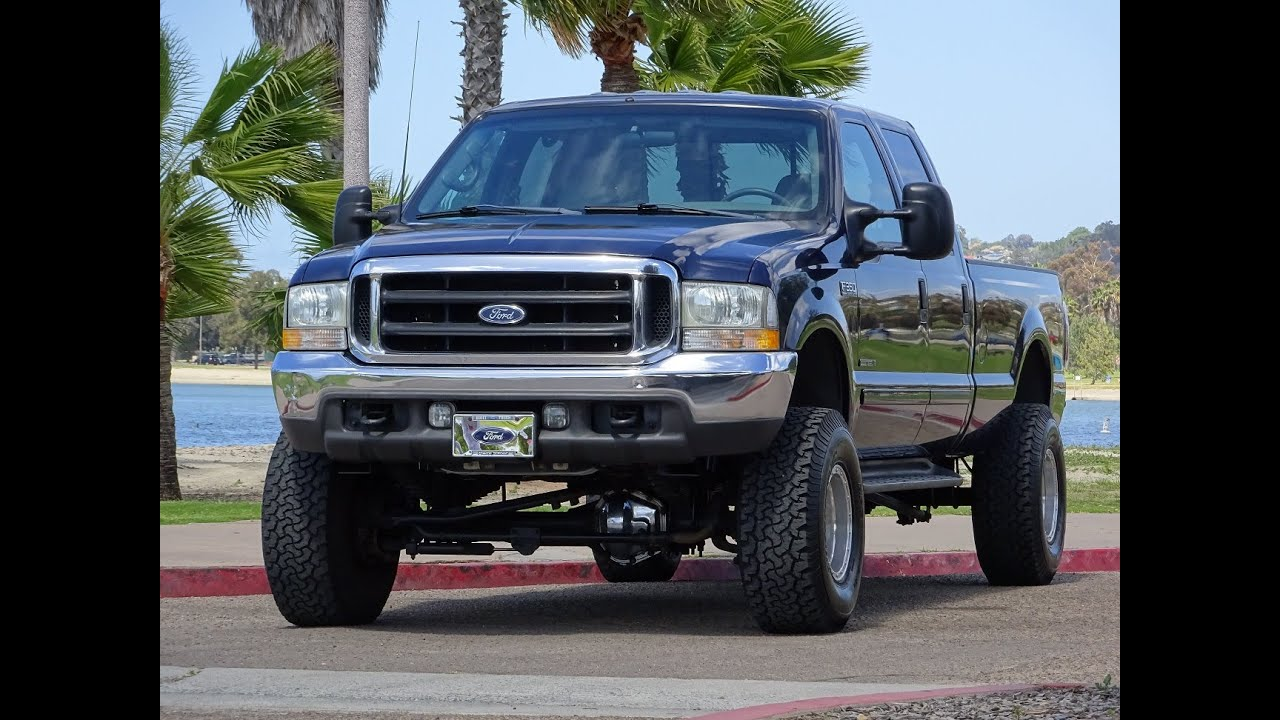 2002 ford f350 lariat crew cab 4x4 long bed lifted fox shocks 138k 1 owner for sale