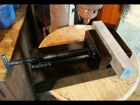 Homemade Vise Drill press vise. scrap metal vise.