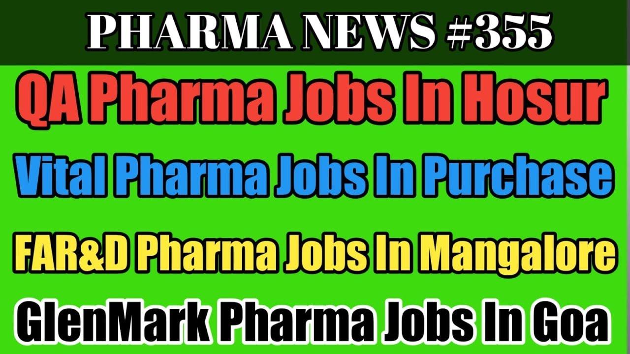 PHARMA NEWS #355 | GLENMARK GLOBAL SEQUENT VITAL Pharma Jobs In Hyderabad  Bangalore Goa #PharmaGuide