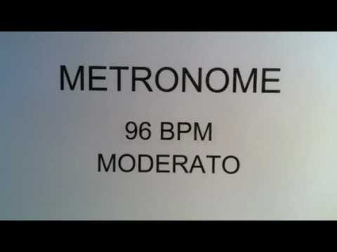 METRONOME 96 BPM MODERATO