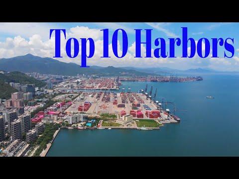 Top 10 Harbors In China| China Top 10中国十大港口:连云港港/营口港/大连港/厦门港 /天津港/广州港/ 青岛港/舟山港/深圳港/上海港