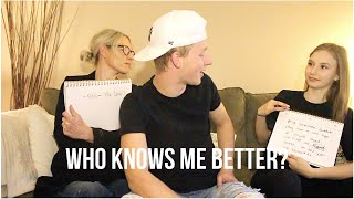 WHO KNOWS ME BETTER? FT. MOM AND SISTER | Tanner Stewart