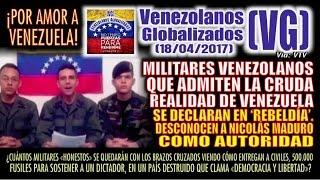 """Militares venezolanos se DECLARAN EN """"REBELDÍA"""". DESCONOCEN a Nicolás Maduro como autoridad – (VG)"""