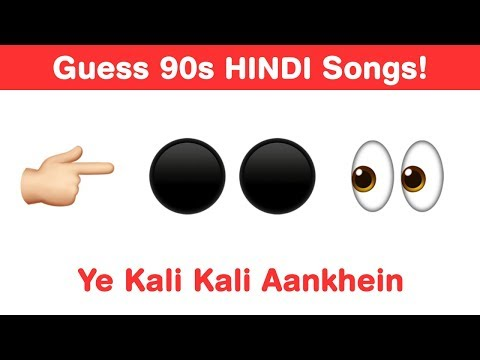 90s Hindi Songs Emoji Challenge - Guess Bollywood Songs