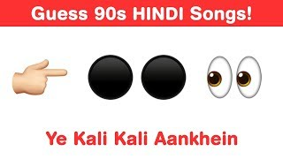 90s Hindi Songs Emoji Challenge - Guess Bollywood Songs
