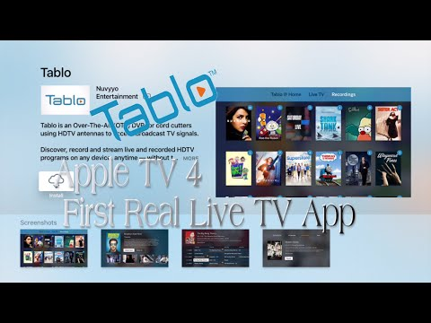 Nuvyyo's Tablo Apple TV App Real Live Major Network TV First look